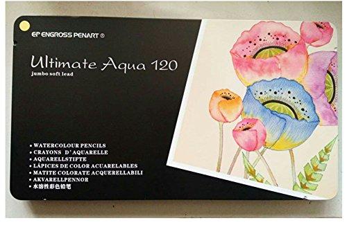 Farbige Aquarellstifte - Wasserlösliche Farbstifte Für Kunststudenten & Professionals, Zeichnung, Aquarell, Kunst, Inktense Tintenstifte, 120er Pack