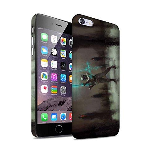 Offiziell Chris Cold Hülle / Matte Snap-On Case für Apple iPhone 6+/Plus 5.5 / Hades/Phantom Muster / Unterwelt Kollektion Schatten Ritter