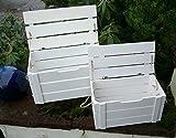 Holzboxen 2er Set. Holzkisten Aufbewahrungsbox Schatztruhe MDF weiss