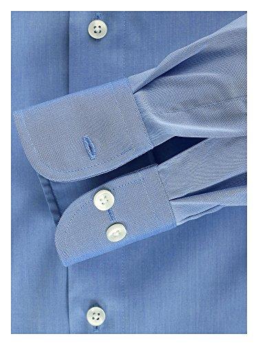 CASAMODA Herren Hemd 72er Ärmel 100% Baumwolle - Modern Fit - extralang Blau