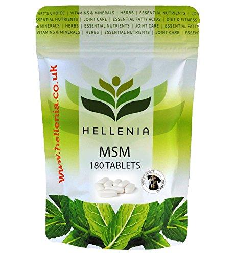 MSM (Methylsulfonylmethan) für Hunde 1000mg – 180 Tabletten – Gelenkpflege Zuschlag für Tiere