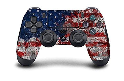 PS4 DualShock Wireless Controller Pro Konsole PlayStation4 mit weichem Griff und Exklusiver individueller Version Skin (PS4-Tattered Flagge) Dream-team-bundle