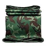 AFDK AFDK Tarpaulin Green Camo wasserdichte Folie Boden mit Ösen, Heavy-Duty-Sonnenschutz Leinwand für LKW Cargo Cover/Equipment Cover,5m*10m