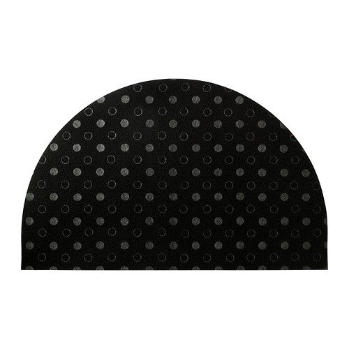 IKEA TVIS-Felpudo, media luna, negro-50x 80cm