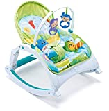 Webby Fiddle Diddle Newborn to Toddler Portable Baby Rocker (Multicolour)