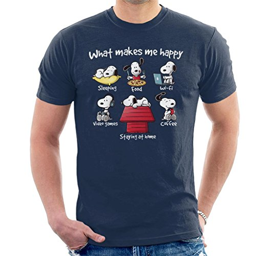 Man City Home Shirt (Cloud City 7 Snoopy Staying at Home Makes Me Happy Men's T-Shirt)