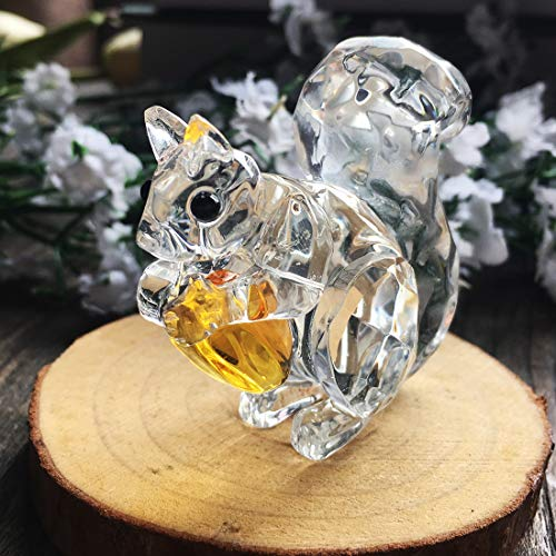 H&D Kristall Tier Mini Eichhörnchen Sammlerartikel Figurine Skulptur Briefbeschwerer Tisch Ornament Dekoration -