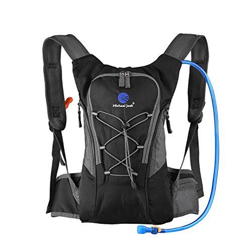 Hydration Rucksack Trinkrucksack(12L) mit Trinkblase(2L) Pack,Trinksystem Backpack - 3