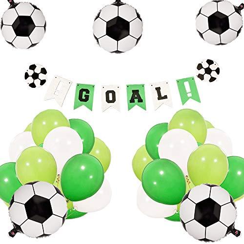 occer Birthday Party Dekoration Set Soccer Ballons Soccer Ball Banner Soccer Party Dekorationen Soccer Banner für Jungen Geburtstag Baby Shower Dekoration ()