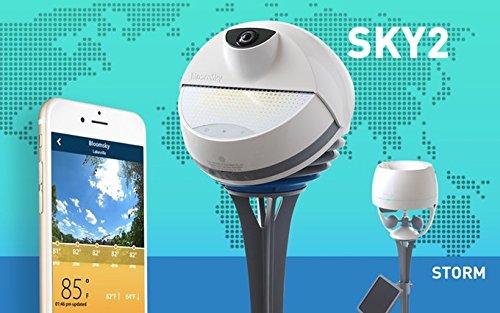 BloomSky - Stazione meteorologica Esterna WiFi, con 4 sensori di Temperatura, umidità, Pressione e Pioggia con Time Laps connesso allo Smartphone