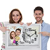 Wall Clock - Artist will draw Caricature faces based on your photos - Caricature Review available