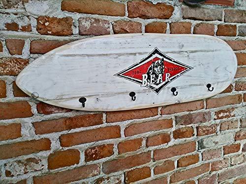 hoch Vielfältig einsetzbar Coatrack Bear Surfboards Holz Vintage cm 100