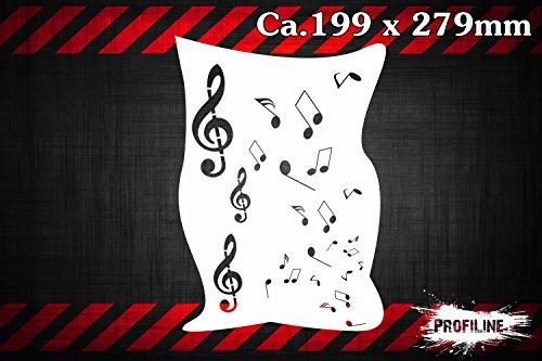 Noten-Melodie-Musik-Airbrush-Schablone-Tone-Stencil