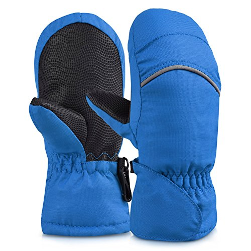 Vbiger Snowproof Skiing Gloves for Children Winter Waterproof Mittens