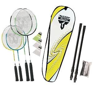 Talbot Torro Badminton-Set Family, Komplettset mit 2 Juniorschläger 53 cm, 2...