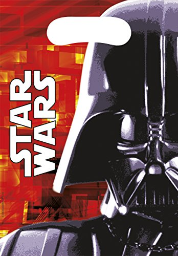 Star Wars - Set di sacchetti di plastica, motivo: Darth Vader, 23 x 16,5 cm, (Sacchetti Di Favore Di Plastica)