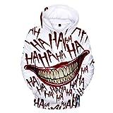 Ywfzzxs 3D Hoodies Anime HD Gedruckt Sweatshirts Langarm Große Taschen Pullover Unisex Top Baseballuniform Haha Joker/FinalFantasyVII