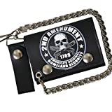 2nd Amendment 4 Soft Leather Biker Motorcycle Biker Wallet and Chain
