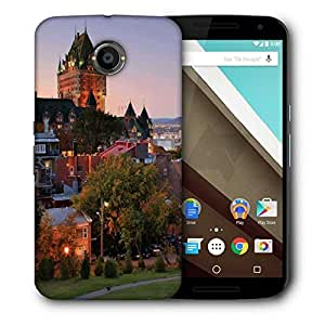 Snoogg Colorful Buildings Printed Protective Phone Back Case Cover For LG Google Nexus 6