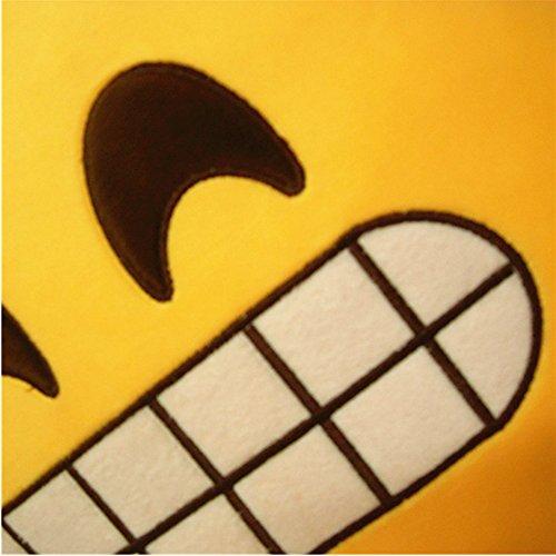 LI&HI Emoji Lachen Emoticon Kissen Polster Dekokissen Stuhlkissen Sitzkissen Rund(Laut Lachen) - 2