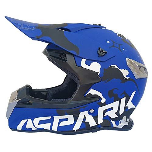 MJW Erwachsenen Motocross-Helm, Vier Saison-Motocross-Helm, Offroad-Rennsport Abseilen Pedal Helm Männlich,B,S