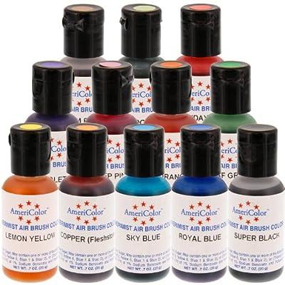 12 Airbrush Farben Set AmeriColor AmeriMist (12x19ml)