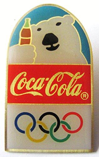 Coca Cola - Olympische Spiele - Eisbär mit Flasche - Pin 52 x 19 mm