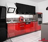 Küchenzeile 168893 Küchenblock 295cm lava