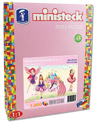 Ministeck 32786 - Mädchenträume 4in1, ca. 1.800 Teile - Kunstwerk Kinder Aufhänger
