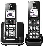 Panasonic KXTGD312 Telefono Cordless DECT Duo, Nero