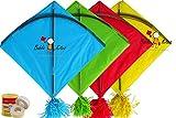 #2: Kites Rocket Indian Kites Set of 20 Kites Size 45.5 * 58.5 Centimeters + Free and Fast Shipping