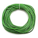 RUBY-Cuerda de piel redonda 3 mm 23m Cordón Cuero para Collar Pulsera Abalorios Bisutería (Verde oliva)