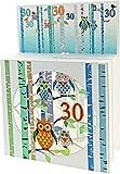 Forever 30 Geburtstag Pop up 3 Ebenen 3D Laser Karte Hand gesteckt Schlaue Eulen 17x13cm