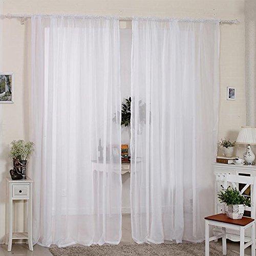 2pcs cortinas visillo decoración de ventana visillo con anillas integ