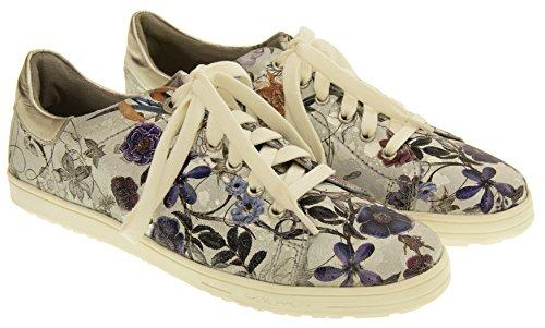 s.Oliver Femmes Bas-Top sneakers Papillon floral d'argent silver