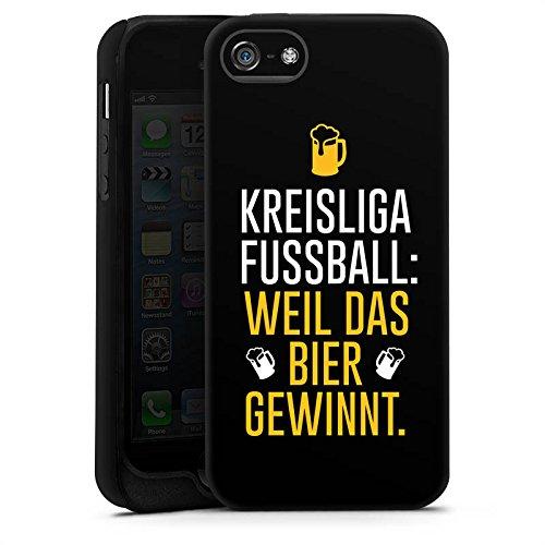 Apple iPhone X Silikon Hülle Case Schutzhülle Fußball Kreisliga Bier Tough Case matt