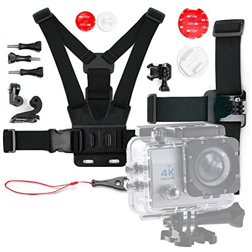 DURAGADGET-Kit-de-accesorios-para-Cmara-Deportiva-PNJ-AEE-S80-Rollei-Actioncam-416-Actioncam-426-TECBEAN-4-K