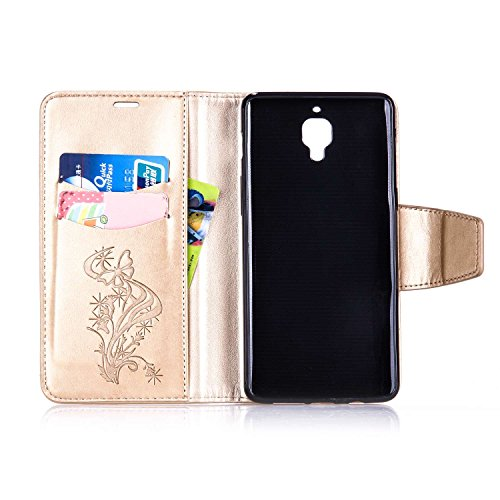 Qiaogle Téléphone Coque - PU Cuir rabat Wallet Housse Case pour Apple iPhone 6 Plus / iPhone 6S Plus (5.5 Pouce) - YX04 / Brun diamant Pissenlit YX07 / D'or Diamant Papillon Fleur