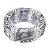 nbeads 1 Rouleau de Fil d'aluminium en Aluminium pour l'artisanat de Bijoux, la modélisation, Les Armatures et la Sculpture - 2 mm x 55 m (diamètre x Longueur)