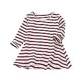 Lange Ärmel Lässige Kleider Mädchen Kleinkinder Drucken von Kleidung