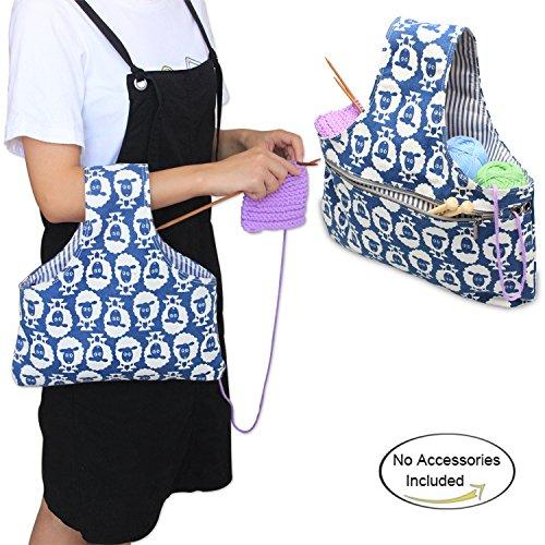 warungstasche für Häken (nicht mehr als 11 Zoll / 28cm), leicht zu tragen, praktisch für wolle,Alpaca (Stricken-projekt-tasche)