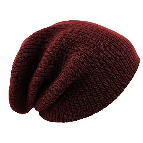 4sold Bonnet ample Maroon stripe