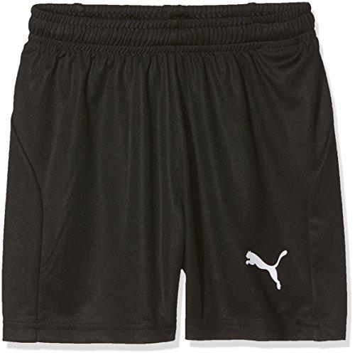 PUMA Kinder Liga Core Shorts, Black White, 116