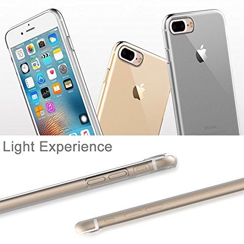 Hülle für iPhone 7 plus , Schutzhülle Für iPhone 7 Plus Transparent Ultrathin Soft TPU Schutzmaßnahmen zurück Fall ohne USB Anti-Staub Stecker ,hülle für iPhone 7 plus , case for iphone 7 plus ( Color Transparent