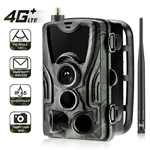 QWERTOUY 4G Trail Kamera Wildlife Jagd Überwachungskameras HC-801LTE 16MP 0.3S Trigger Infrarot mit Antenne Jagd Wildkamera
