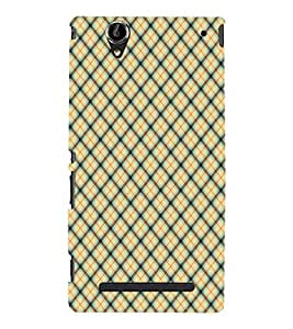 EPICCASE yellow crosses Mobile Back Case Cover For Sony Xperia T2 (Designer Case)