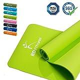 HD Fitness® Tappetino da Ginnastica/Extra Spesso e Morbido, Ideale per Yoga Pilates, Allenamento di Ginnastica/Dimensioni: 180 x 61 Spessore 0,8mm / Light Green