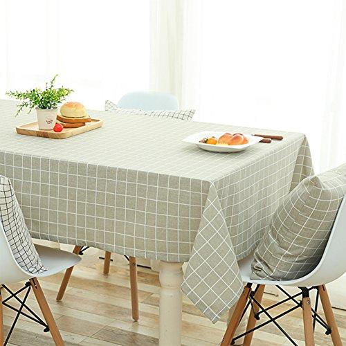 X Bettwäsche 90 Tischdecke Quadratische 90 (Wasserdichte tischdecken für rechteck tabellen,Nördlichen europa baumwolle bettwäsche gitter tischdecken platz für esstisch couchtisch-A 90x90cm(35x35inch))