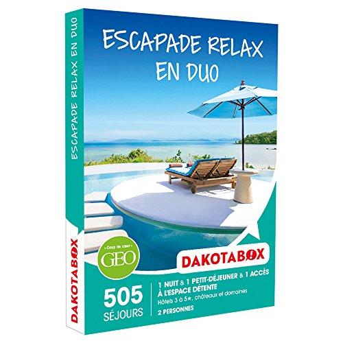 DAKOTABOX - Coffret Cadeau - ESCAPADE RELAX EN DUO - hôtels 3* à 5*, châteaux et...
