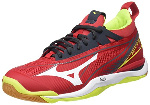 Mizuno Wave Mirage 2, Scarpe da Pallamano Uomo, Rosso (Marsred/White/Safety Yellow), 44.5 EU